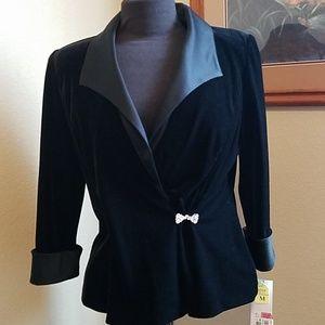 Black velvet and satin jacket
